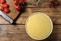 Couscous and tomatoes Stock Image