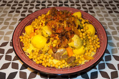 Couscous. Traditional couscous dish of Moroccan cuisine Royalty Free Stock Photo