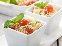 Couscous végétal avec des tomates Photo stock