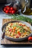 Couscous végétarien délicieux Photo stock