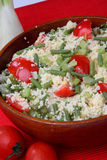 Couscous with vegetable stock photo