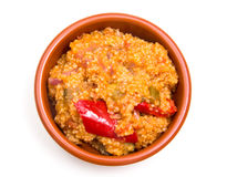 Couscous with vegetables from above Royalty Free Stock Photos