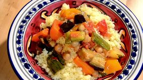 Couscous with vegetables Royalty Free Stock Photography