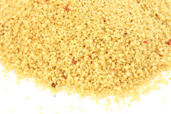 Couscous on white background Royalty Free Stock Photo