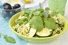 Couscous and zucchini  salad. Royalty Free Stock Images