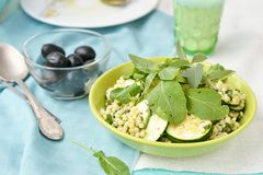 Couscous and zucchini  salad. Stock Photography