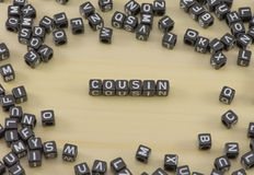 The Cousin. The concept of the word Cousin Royalty Free Stock Photos