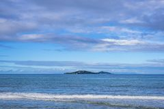 Cousin island, Seychelles. A view from Grand Anse beach on Cousin island, Praslin island, Seychelles Royalty Free Stock Photo