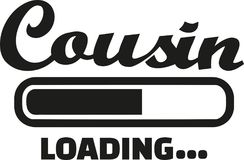 Cousin loading vector. Cousin loading bar family vector Royalty Free Stock Images