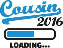 Cousin 2016 loading bar. Vector Royalty Free Stock Image