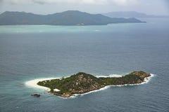 Cousine Island Aerial, Seychelles Royalty Free Stock Photos
