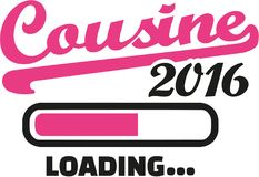 Cousine 2016 loading bar. Vector Royalty Free Stock Image