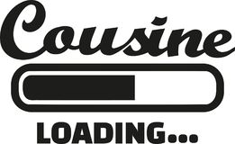 Cousine loading vector. Cousine loading bar family vector Royalty Free Stock Photos