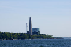 Cousins Island Power Plant Royalty Free Stock Photos