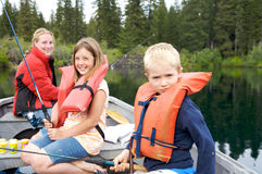 Cousins out Fishing Stock Photography