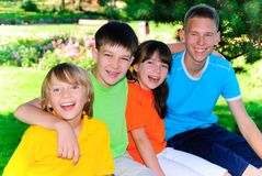Cousins in the park Stock Photography