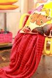 Coussin coloré lumineux Images stock