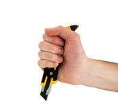 Couteau à disposition Image stock
