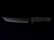 Couteau avec la lame noire Image libre de droits
