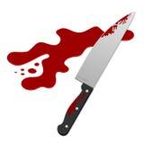 Couteau avec le sang Image libre de droits
