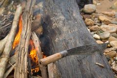 Couteau campant Photographie stock libre de droits