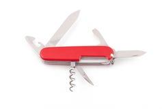 Couteau d'armée suisse ouvert Images stock