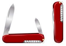 Couteau d'armée suisse. Vecteur Photographie stock libre de droits