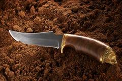 Couteau de chasse Photographie stock libre de droits