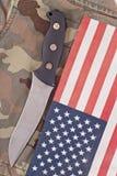 Couteau de combat d'exécutions spéciales Images libres de droits
