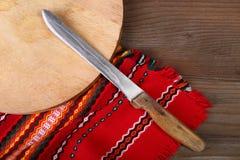 Couteau de cuisine à la maison Photos libres de droits