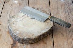 couteau de cuisine de découpage de panneau Photo libre de droits