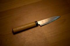 Couteau de cuisine sur le bloc de découpage Images libres de droits