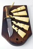 couteau de gruyère de fromage Image libre de droits