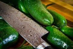 Couteau de Jalapeno Images stock