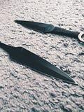 Couteau de Kunai Image libre de droits