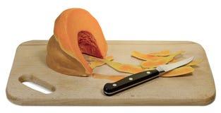 Couteau de panneau de potiron Photos stock