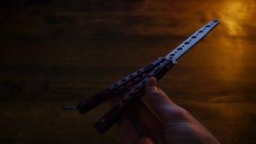 Couteau de papillon photo stock