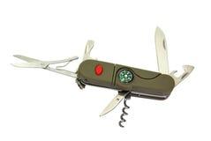Couteau de poche avec le compas Photo stock