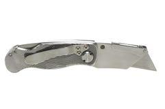 Couteau de service sur le blanc avec le chemin de découpage Photo stock