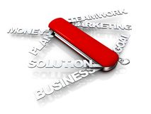 Couteau de Suisse d'affaires Image stock