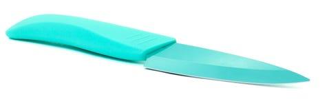 Couteau de turquoise. D'isolement Photos stock
