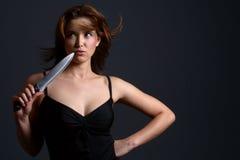 Couteau de violence domestique Image stock