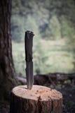 Couteau de voyage dans les bois Images libres de droits