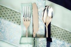Couteau et cuillère de fourchette Photographie stock libre de droits