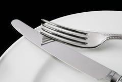Couteau et fourchette Photo stock