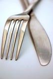 Couteau et fourchette Photographie stock