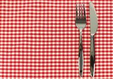 Couteau et fourchette brillants Photographie stock