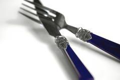 Couteau et fourchette fleuris Photographie stock