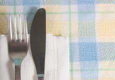 Couteau et fourchette journaliers Photographie stock libre de droits