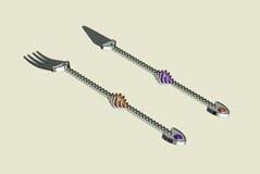 Couteau et gens Image libre de droits